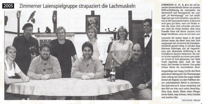 Pressebericht 2005 - D´r Mamasuggl