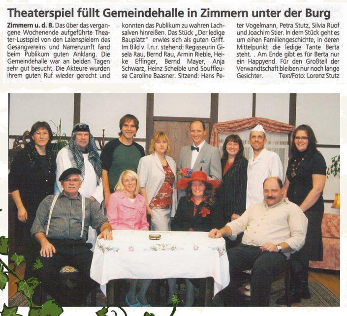 Pressebericht 2008 - Der ledige Bauplatz