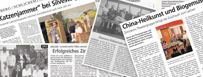 Theatergruppe Zimmern in der Presse