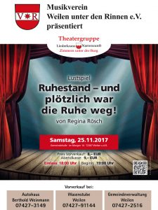 Plakat Theater in Weilen 2017