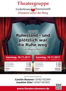 Plakat Theater in Zimmern 2017
