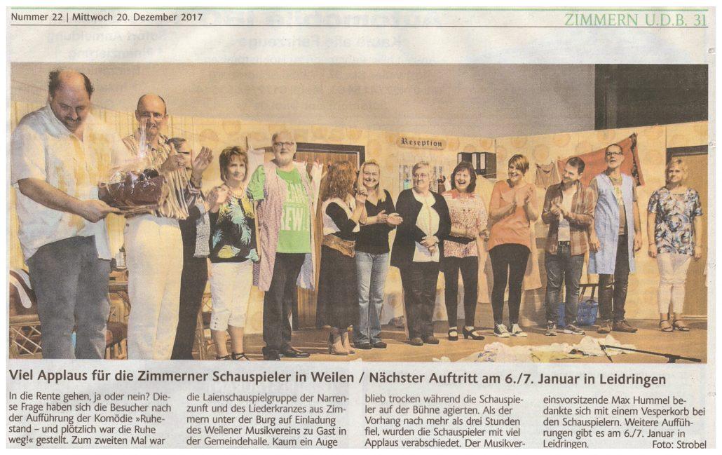 Schlichem-/Heuberg-Blick 20.12.17 - Ruhestand - und plötzlich war die Ruhe weg!
