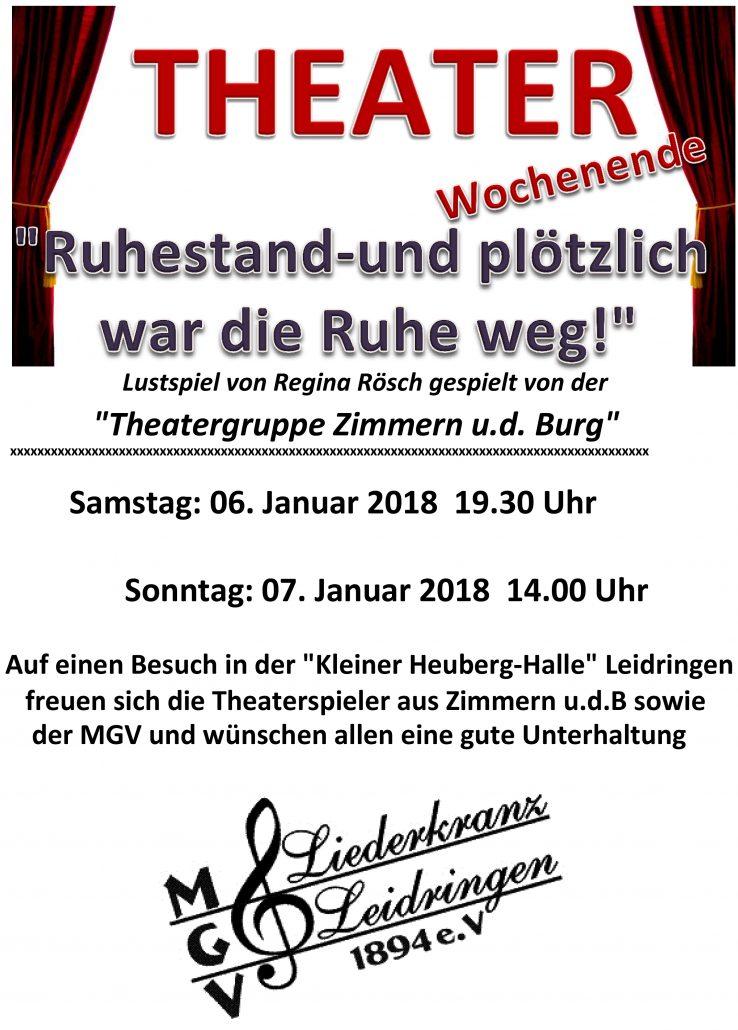 Theateraufführungen in Leidringen