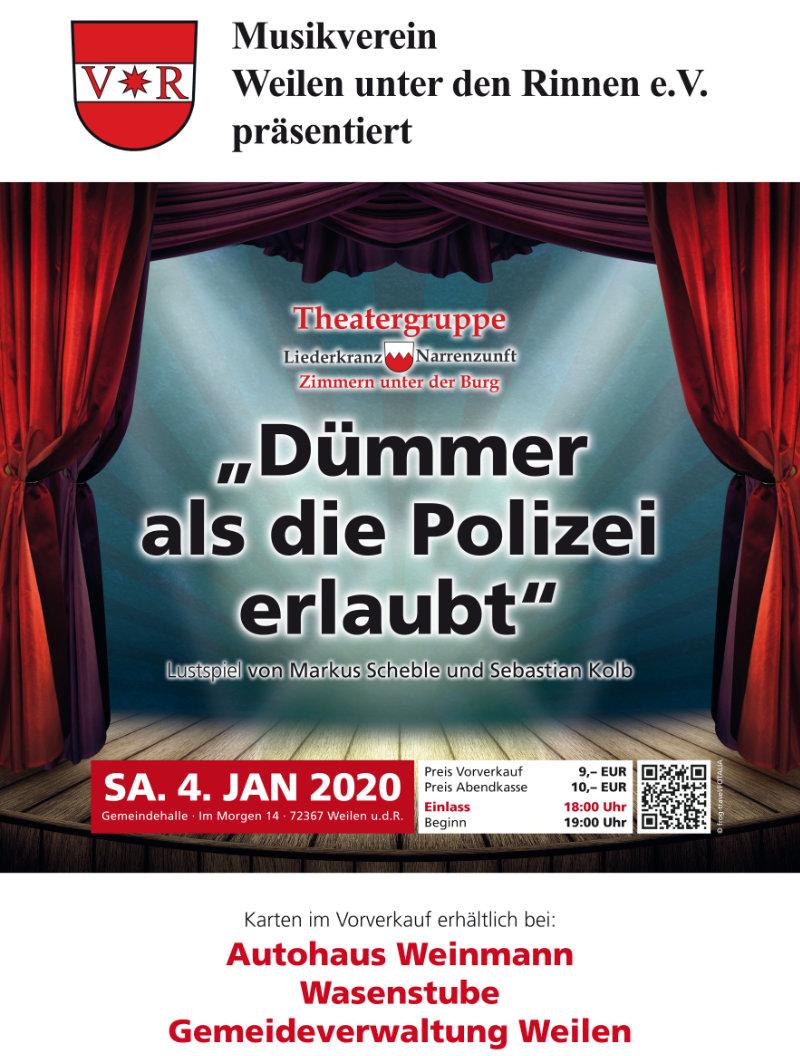 Plakat Weilen Theatergruppe-Zimmern 2020