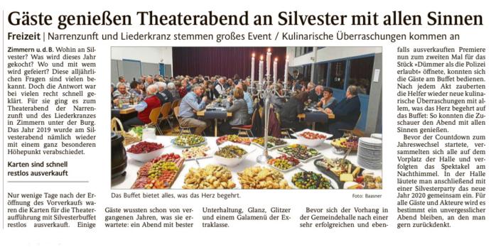 """Schwarzwälder Bote 02.01.2020 - """"Dümmer als die Polizei erlaubt"""""""